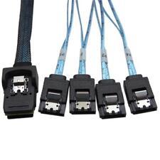 1.5FT Internal Mini SAS SFF-8087 36P to 4 x SATA 7 Pin External Connector Cable