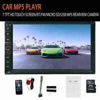 """7"""" Double DIN Car MP5 Player Bluetooth Touch Screen Stereo FM Radio USB Camera"""