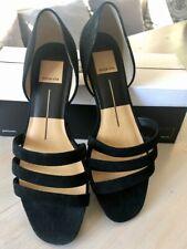 Dolce Vita Deidra Three-Strap Black Suede Sandals  US 8.5 NIB!!!