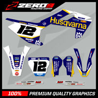 HUSQVARNA TE FE TC FC 125 250 350 450 MOTOCROSS MX GRAPHICS FULL KIT SE1 BLU
