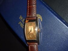 EXQUISITE*DECO WALTHAM PREMIER MEN'S*ROSE GOLD PLATE*WOLLASTON*1941*9J*BOX/PAPER