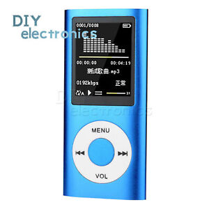 """Ultra-thin and Light 1.8""""LCD MP3 Media MP3 MP4 Player Music Video FM 32GB US"""