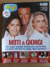 TV Sorrisi e Canzoni n°43 2002 De Sica Ornella Muti Eleonora Giorgi  [D54]