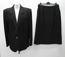 BURBERRYS Ladies Black Wool Single Breasted 2-Piece Pencil Skirt Suit Approx. L