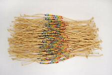 FREE Wholesale lots 100pcs Rope Crystal Beads Friendship manual Weave Bracelets