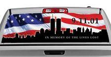 Truck Rear Window Decal Graphic [Patriotic / 911 Memorial] 20x65in DC23209