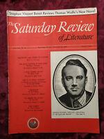 RARE SATURDAY REVIEW September 21 1940 THOMAS WOLFE