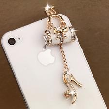 NEW Rhinestone Handbag Shoe Pattern 3.5mm Anti Dust iPhone Earphone Stopper Cap