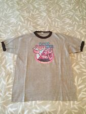 Vintage 1978 I JUST WORK HERE FLUNKY Ringer Lazy Funny T-Shirt Extra Large