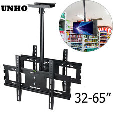 Adjustable Ceiling TV Mount Double Side Dual LED LCD TV Mount Screens up to 65""