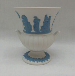 Wedgwood Blue On White Jasper Ware Urn Vase