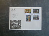2014 ICELAND ART- URBAN REALITIES SET 4 STAMPS FDC FIRST DAY COVER