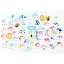 Cute Watercolor Good Bad Weather Sticker Set Scrapbooking DIY Diary Album Label