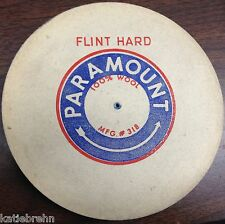 "6"" DIA 1/2"" WIDE FLINT HARD PARAMOUNT FELT WHEEL BUFF PIN HOLE POLISHING BUFFING"