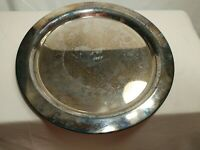 """Antique Round Oneida Community Plate 12"""" Cocktail Tray Serving Platter 1961"""
