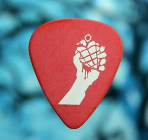 Green Day // American Idiot THE MUSICAL Tour Guitar Pick // Red/White