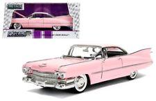 1959 Cadillac Coupe De Ville Rosa 1/24 Scala Diecast Modello di Auto da Jada