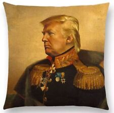NEW Donald Trump Neoclassical Military General Uniform Funny Throw Pillow Case