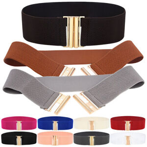 Wide Waist Belts Elastic Band Cinch Trimmer Accessory for Girls Dresses, Gowns