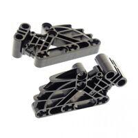 2 x Lego Bionicle Figur Brustkorb schwarz 2 x 4 x 7 Liftarm Verbinder Ribcage Te