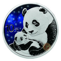 China 2019 1 OZ Panda Glowing Galaxy