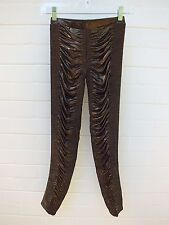 SASS & BIDE BABY DOLL DREAMER METALLIC GOLD BLACK LEGGINGS PANTS RATS XS (2)