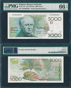 Belgium ND 1982-1992 5000 Francs Guido Gezelle P145 PMG66 EPQ Gem UNC