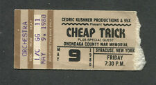 Original 1980 Cheap Trick Concert Ticket Stub All Shook Up I Want You To Want Me