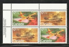 CANADA 1979 #843-844 UL 17¢ Stamp AIRCRAFT FLYING BOATS Plane Plate Block MNH