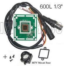 "600TVL CCTV Color Camera Board 1/3"" Inch CMOS with Infared + Base Mount A603C"