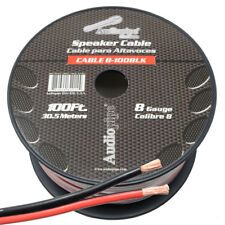 8 Gauge Speaker Wire 100' ft Red/Black Car Audio Home Subwoofer Amplifier Cable