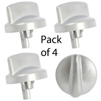STOVES Genuine 444445034 D854 Format G754 Oven Hob Switch Knob Silver x 4