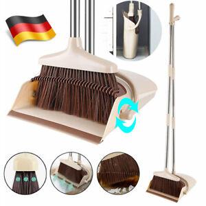 130cm Kehrset Softgriff Kehrgarnitur Kehrschaufel langem Handfeger Handbesen DE