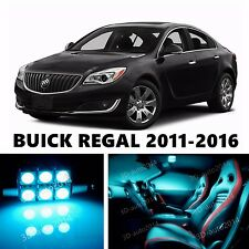 16pcs LED ICE Blue Light Interior Package Kit for  BUICK REGAL
