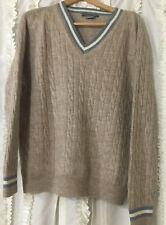 Pre Owned Men's Lacoste Beige Alpaca V Neck Sweater Size XL