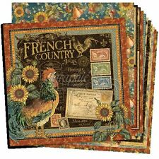 """GRAPHIC 45 """"FRENCH COUNTRY"""" 12X12 PAPER COLLECTION 12 SHEETS SCRAPJACK'S PLACE"""
