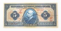 1925 Brazil Cinco Mil Reis Note XF+ 5000 R$ Five Thousand Real Extra Fine+ P#29c