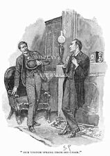 11 x 14 Sherlock Holmes drawn by Sidney Paget 1893 Strand Magazine