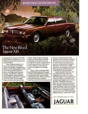 1988 JAGUAR XJ6  ~  CLASSIC ORIGINAL PRINT AD