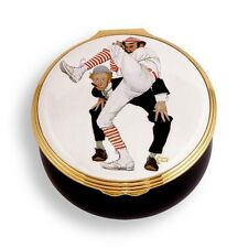 Halcyon Days-Norman Rockwell 100Th Anniversary Baseball