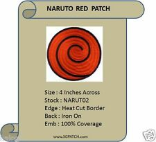 10 NARUTO RED SPIRAL PATCHES - NARUTO2 x 10