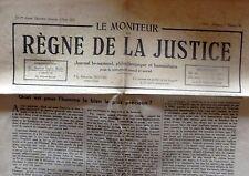 Le moniteur du règne de la Justice. 16e année. Août 1952. N° 16.