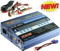 Powerhobby H200 AC /C Dual Fast Lipo 200w Battery Charger Proboat EC5 Banana ...