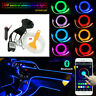 6M RGB LED Neon EL Auto Strip Leiste Innenraum Ambientebeleuchtung APP Control