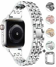 Apple Watch Band with Case 42mm 44mm Jewelry Wristband Diamond Silver