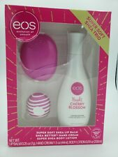 EOS Evolution of Smooth Set New Berry Blossom Hand Body Lotion Coconut Lip Balm