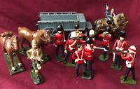 Britain 🇬🇧 Lead Soldiers,Horses,Wagon Lot
