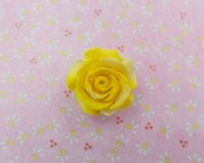 YELLOW ROSE BROOCH Yellow Wedding Memorial Remembrance Lapel Brooch HAND PAINTED