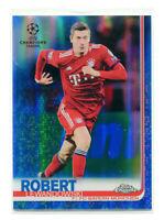 ROBERT LEWANDOWSKI 2018-19 Topps Chrome UEFA Blue Refractor Ref Card SP 122/50