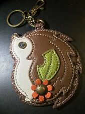 Chala Leather Hedgehog Key Fob W/Split Ring And Coin Purse Euc